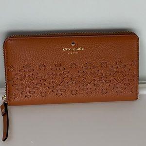 Kate Spade Neda Flynn Street Warm Cognac Wallet